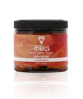 """Jar of itiba """"cruician spice"""" natural body polish"""
